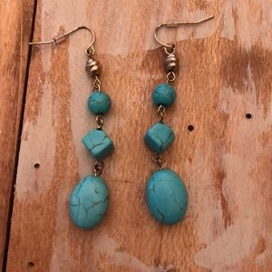 Chico's turquoise earrings